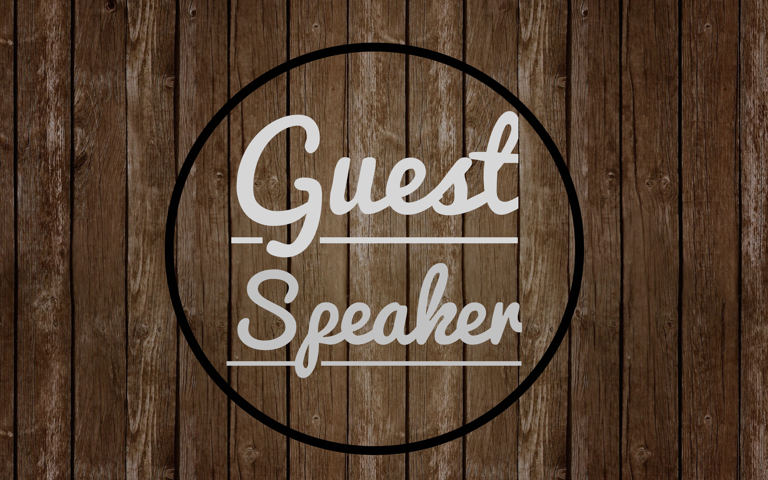 Guest Speaker – Ronnie White
