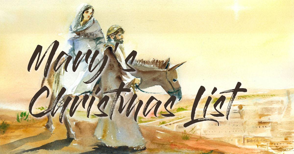 Mary's  Christmas List