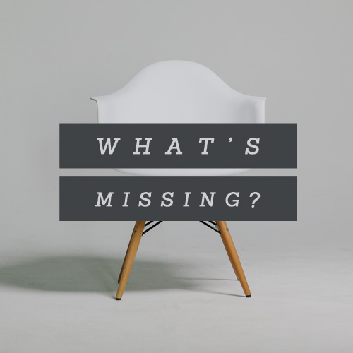 What's Missing? – Part 1